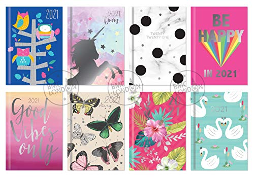 2021 Padded Week to View Pocket Fashion Design Diary - Assorted Design