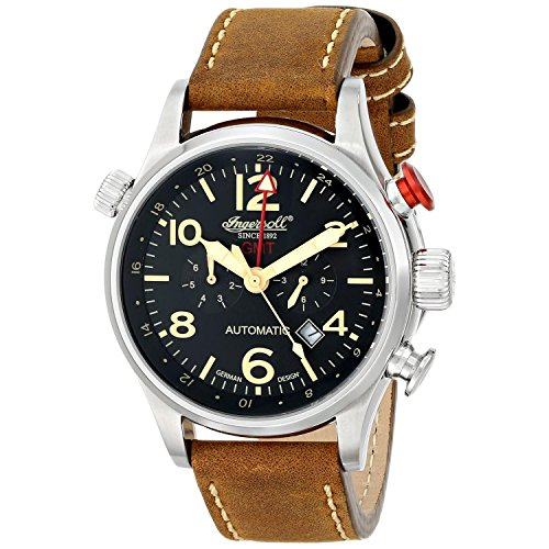 Ingersoll herenhorloge XL Lawrence chronograaf automatisch leer IN3218BK