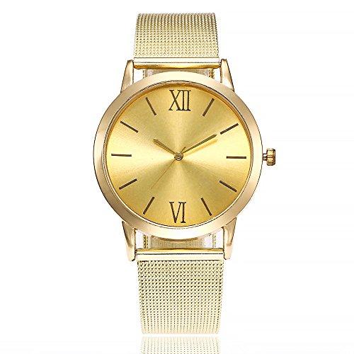 Armbanduhr Damen Ronamick Vansvar beiläufige Quarz-Edelstahlband-Newv Bügel-Uhr-analoge Armbanduhr Armband Armbanduhr Uhr Uhren(C)