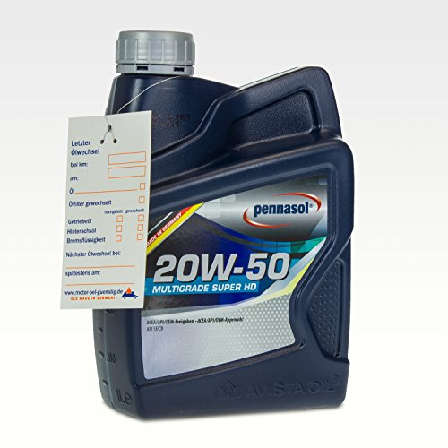 Pennasol Multigrade Super HD SAE 20W-50 Motoröl, 1 Liter