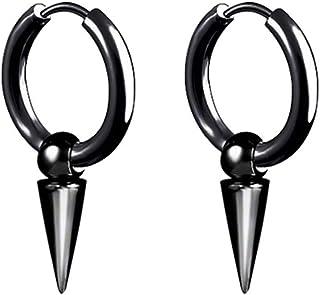 Boucles doreilles en acier inoxydable cr/éoles unisexe pour femmes hommes rondes avec c/ône boucles doreilles cr/éoles pour femmes