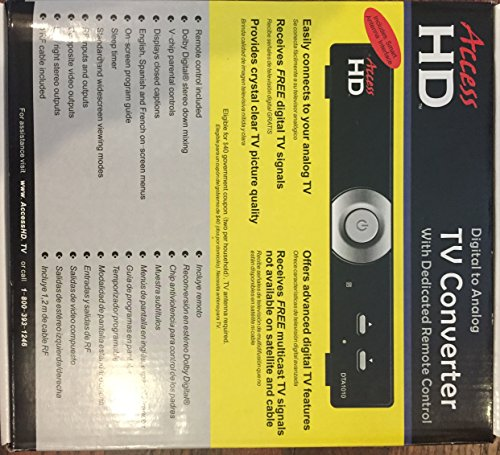 Access HD 1010D Digital To Analog TV Converter Box