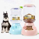DBSCD Pet Supplies, Pet Feeder, Waterer per Cani Gatti Coniglio Piccoli Animali 1 * Dispenser d'Acqua e 1 * Ciotola per Animali Domestici