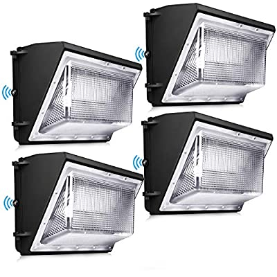 120W LED Wall Pack Light - Dusk to Dawn with Photocell 5000K Outdoor Commercial and Industrial Lighting 10-Year Warranty
