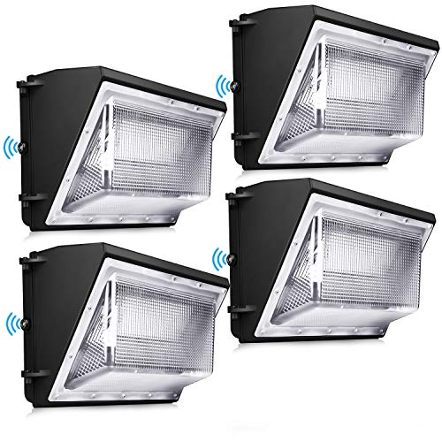 120W LED Wall Pack Light 4 Pack Dusk to Dawn with Photocell 5000K Outdoor Commercial and Industrial Lighting