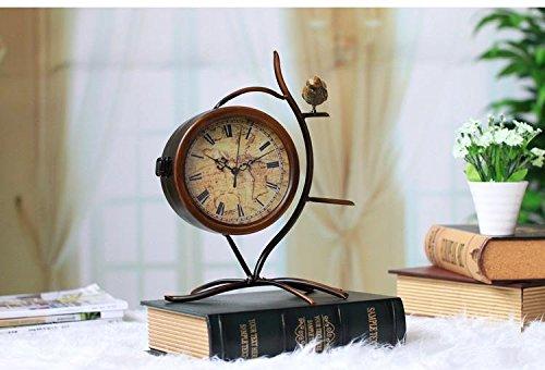 ZHUNSHI Continental antiken Eisen Jugendstil Dekor die Uhr Uhren Desktop Clock Romanji Container...