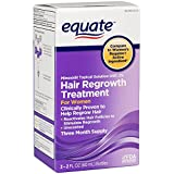 Equate Hair Regrowth Topical Solution for Women, 3ct