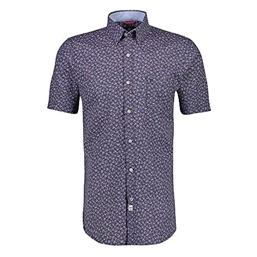 LERROS - Herren Kurzarm Hemd, Regular FIT (21H2472), Größe:L, Farbe:Storm Blue (448)