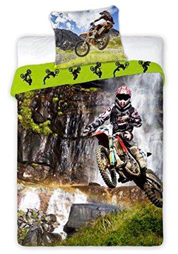 Moto Cross Sport Bettwäsche, Bettbezug 140 x 200 cm, Baumwolle