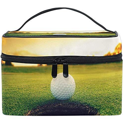 Golf Ball Near Hole Cosmetic Bag Travel Makeup Train Cases Storage Organizer
