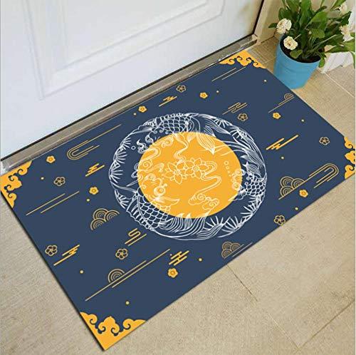 Huishoudelijke vloermatten deurmatten antislip fabrikanten groothandel geschenken cartoon geometrische eenvoudig tapijt O 80x100cm