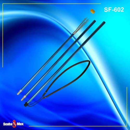ScubaMax New Three Piece 72 Inch (1.82 Meters) Travel Polespear with 5-Prong Barbed Paralyzer Tip