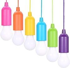 6 stuks pull-light, lamping LED-lamp, draagbare LED-verlichting, kleuren, gloeilampen, campinglamp, decoratieve verlichtin...