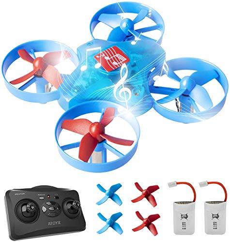 ATOYX Mini Drone para Niños, Drone con Músicas, 3D Flips,