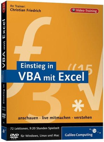 Einstieg in VBA mit Excel. Das Video-Training auf DVD