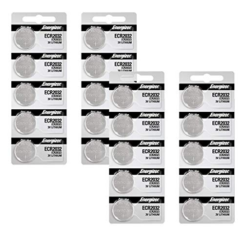 Energizer 2032 Battery CR2032 Lithium 3v (1 Pack of 20)