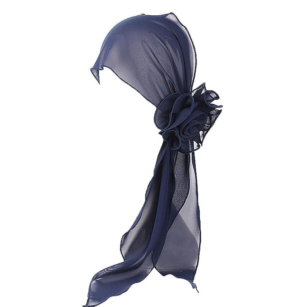 変換結論変更可能ヘッドスカーフ ハット 帽子 Timsa レディース スカーフキャップ 花の形 ヘッドスカーフ 睡眠 抗UV 脱毛症 化学療法の患者のために バイザー 夏用帽子 イスラム教徒 フヘッドバンド スカーフ ヒジャブ 山の日 海の日 日よけ止め 日焼け防止