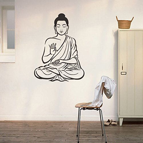 Pegatinas de Pared de Vinilo de Buda Chakra Mandala Mantra Meditación Decoración...