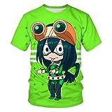 Aatensou 3D My Hero Academia Graphic Anime Casual Moda Poliéster Buena permeabilidad al aire, suave y cómodo Niños 3D Anime Camiseta (K5,XXL)