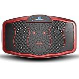 Entrenador de Vibración de Todo el Cuerpo Vibratoria Máquinas de Ejercicios, Fitness Plataforma de formación del hogar, con el USB Función Terapia Altavoz y Magnetismo y Pantalla LCD (Color : Rouge)