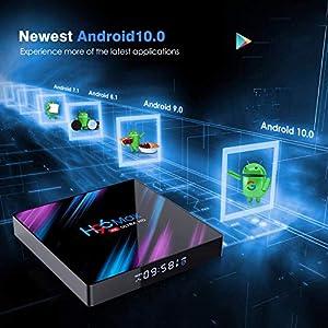 H96 Pro Plus TV Box 3GB RAM 16GB ROM Android 7.1 Marshmallow UHD 4K Smart TV Box with Dual-band WIFI 2.4GHz/5.0GHz Bluetooth 4.1 1000M LAN 4K 2K