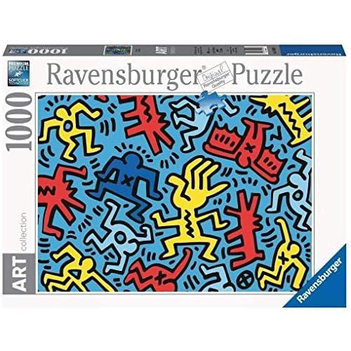 Ravensburger Puzzle, Puzzle 1000 Pezzi, Pop Art, Keith Haring, Collezione Arte, Puzzle Arte per Adulti, Puzzle Ravensburger - Stampa di Alta Qualità