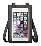 FLOTOWN Lightweight Cell Phone Purse Crossbody for Women, Softer Touch Screen Purse, Clear Window Small Cellphone Bags for Women with Adjustable Shoulder Strap