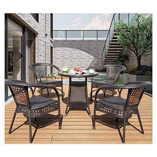 HLZY Outdoor Living Furniture Outdoor Furniture Ratan Patio Furniture Set Patio Rattan Dining Table Set Wicker Weave for Outdoor Garden Poolside