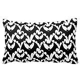 Cushion Cover Standard Pillowcase Decorative Black and White Bats Goth...