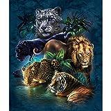 Puzzle Puzzle 1000 Pièces Tigre Lion Léopard Adulte Loisirs Divertissement Jouets Éducatifs Pour Enfants Décor De Noël u80