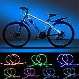 DANCRA Fahrradlicht Led Speichenreflektoren Fahrrad Rahmen Licht mit Batterie 6V 0.8M×2 R/G/B LED Streifen Licht wasserdicht für Kinderfahrrad, Fahrrad zubehör