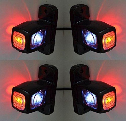 4 X côté marqueur Rouge Blanc Orange lumières LED 12 V 24 V Châssis de camion remorque Bus caravane Camper