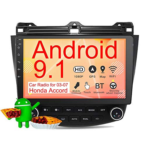 Binize 10 Inch Touch Screen Android Car Multimedia Radio,in-Dash Car Stereo,with GPS Navigation,WiFi,Bluetooth,Mirror Link,USB, for 2003-2007 Honda Accord Stereo Radio (2G RAM+16G ROM)