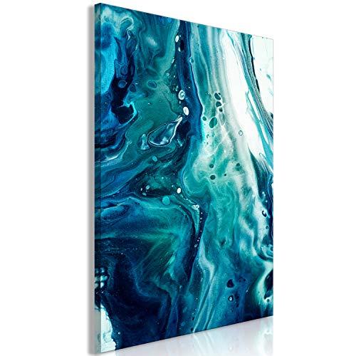 murando Impression sur Toile intissee Abstrait 60x90 cm 1 Partie Tableaux Decoration Murale Photo Image Artistique Photographie Graphique Bleu Blanc Turquoise...