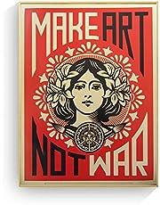 HNTHBZ Make Art Not War Pop Art Vintage Plakaty I Druki Obraz Ścienny Do Salonu Obrazy Dekoracyjne Do Domu 20x30inch