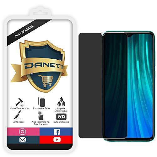 Película De Privacidade Vidro Temperado Para Xiaomi Redmi Note 8 Pro Tela 6.53 Polegadas Proteção Anti Impacto E Curioso Top Spy Premium 3d- Danet