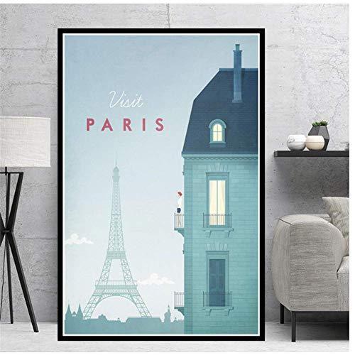 A&D Leinwand Malerei New York Wandkunst Berlin HD Druck London Poster Home Decor Minimalistische Reisestadt für Schlafzimmer Bild -50x70cmx1pcs -No Frame