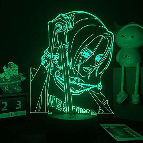 Nana 3D LED Night Light per la decorazione della camera da letto Nana Osaki Action Figure Kid Girl Light Manga Gift 7 colori