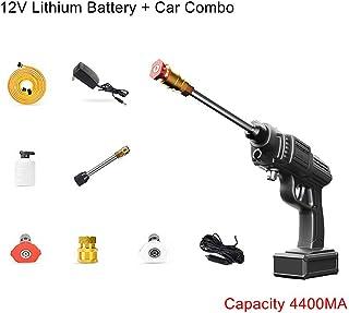 200W High-Power Car Washing Water Gun, Wireless Lithium Battery Car Two-In-One Car Washing Machine, Handheld Auto Spray Po...