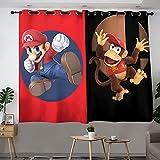 Super Smash Bros - Cortinas para decoración de cocina, oscurecimiento de habitación, cortinas opacas con ojales (55 x 45 cm)