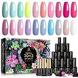 Best Gel Polish Kits - MEFA Gel Nail Polish Set 23 Pcs Review