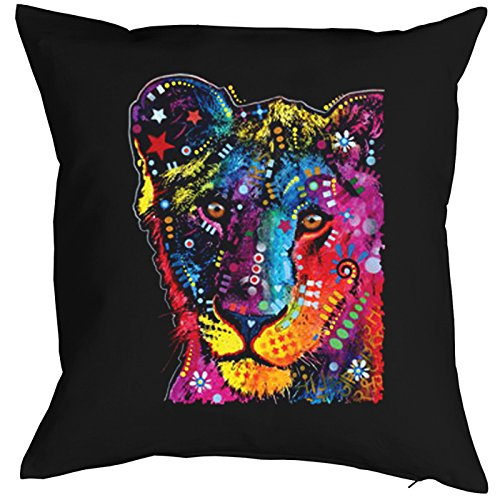 Young Lion Cat Chats Gatti Gatos Coussin, Pop Art Style