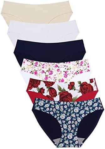 Wealurre Seamless Underwear Invisible Bikini No Show Nylon Spandex Women Panties 826m 1 floral product image