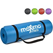 Maximo Exercise Mat NBR Fitness Mat - Multi Purpose - 183 x 60 x 1.2 centimetres - Yoga, Pilates, Sit-Ups, Stretching, Home, Gym - Perfect for Men and Women. (Blue)