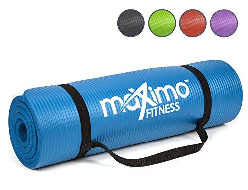 Maximo Fitness Colchoneta de Ejercicios - 183cm de Longitud x 60cm de Ancho x 1,2cm de Grosor. (Blue)