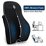 Villsure Lumbar Support Pillow, Memory Foam Back Cushion Pillow for Office Chair,Computer/Car Seat and Wheelchair with Breathable 3D Mesh,Ergonomic Orthopedic Backrest for Back Pain Relief