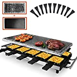 Artestia raclette table grill,1500W indoor raclette grill,10 Paddles Korean BBQ Grill,electric...