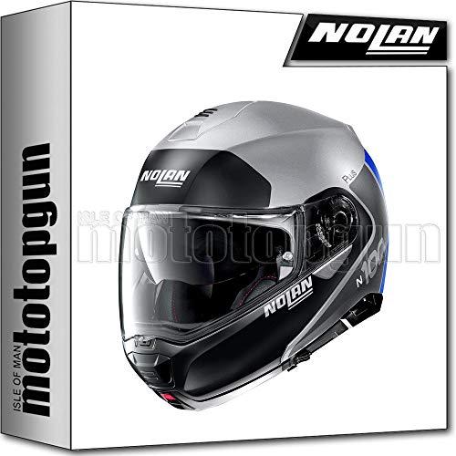 NOLAN CASCO MOTO MODULARE N100-5 PLUS DISTINCTIVE FLAT LAVA PLATA 030 SZ. XL