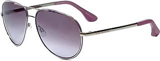 Isaac Mizrahi Designer Sunglasses IM36-78 in Lilac Silver with Purple Lenses