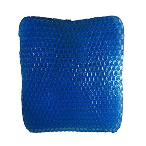 Daunenkissen Sitzkissen Kissen Non Slip Stuhl para Breath Verhindert, DASS Soft-Sit Kissen Verschwitzte Bottom for Büro-Auto-Rollstuhl (Color : Blue, Specification : 40x31X3.5cm)
